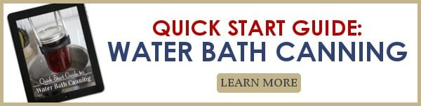 Quickstart guide to water bath canning image