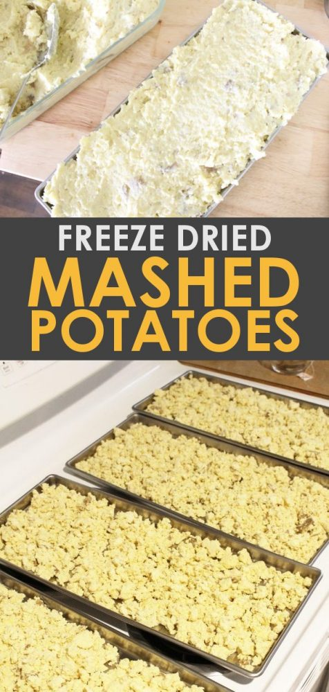 Learn how to freeze dry mashed potatoes