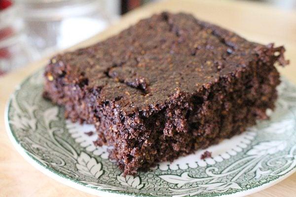zucchini flour chocolate cake
