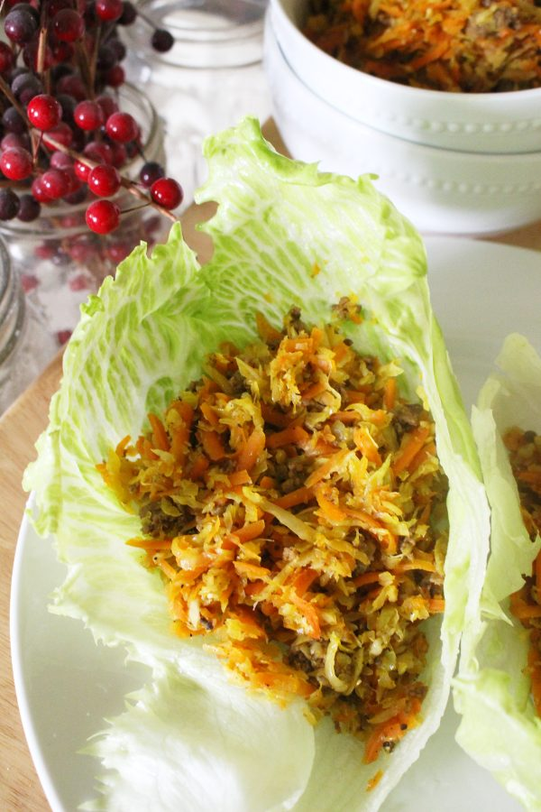 egg roll bowl recipe in lettuce wraps