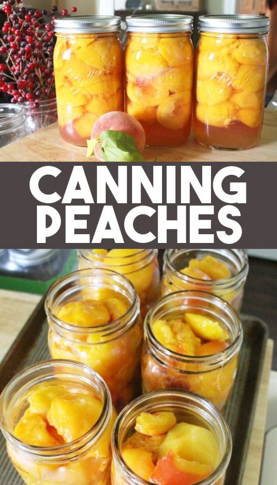 how to can fresh peaches in jars