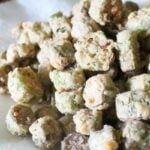 fried okra finished on plate