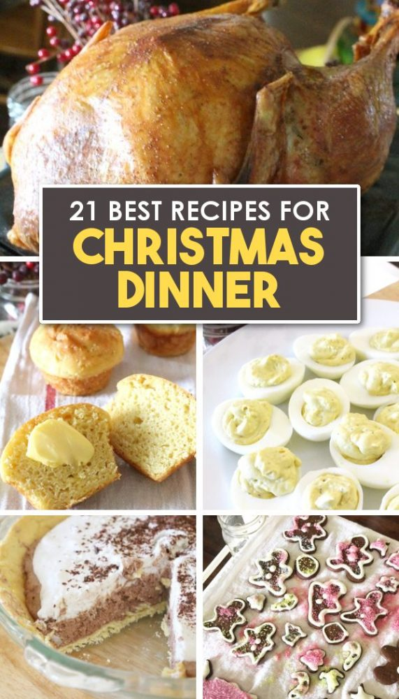 Christmas dinner Christmas candy Christmas Dessert recipes on Christmas dinner table