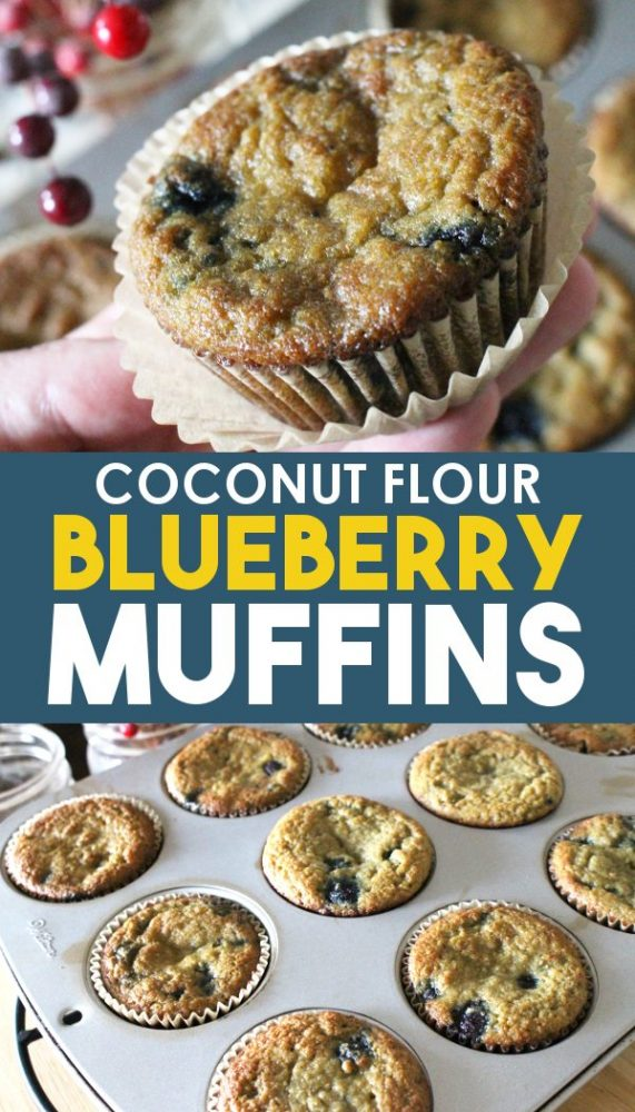 Coconut flour blueberry muffins recipe