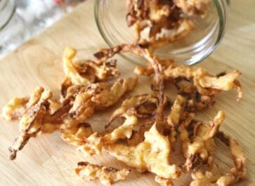 Homemade French Fried Onions in Mason Jar