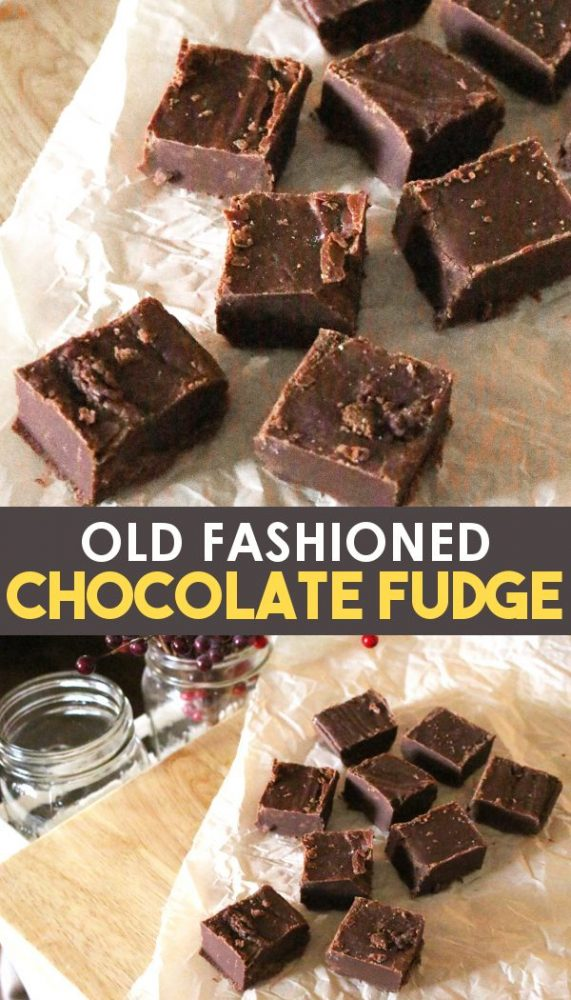 Chocolate fudge sliced on parchment