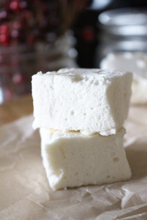Pile of honey marshmallows