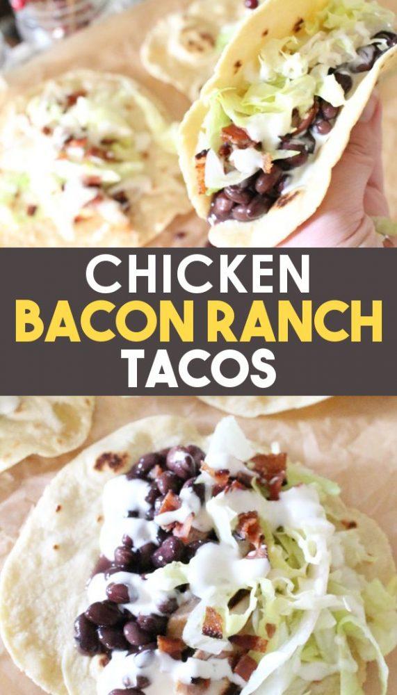 chicken bacon ranch taco