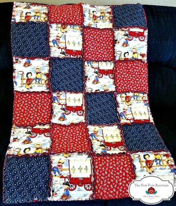 homemade rag quilt