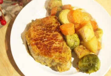 honey mustard pork chops and vegetable dinner recipe