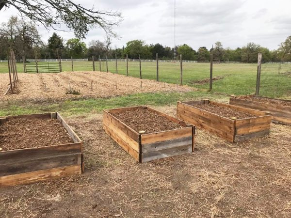 4 finished raised garden beds