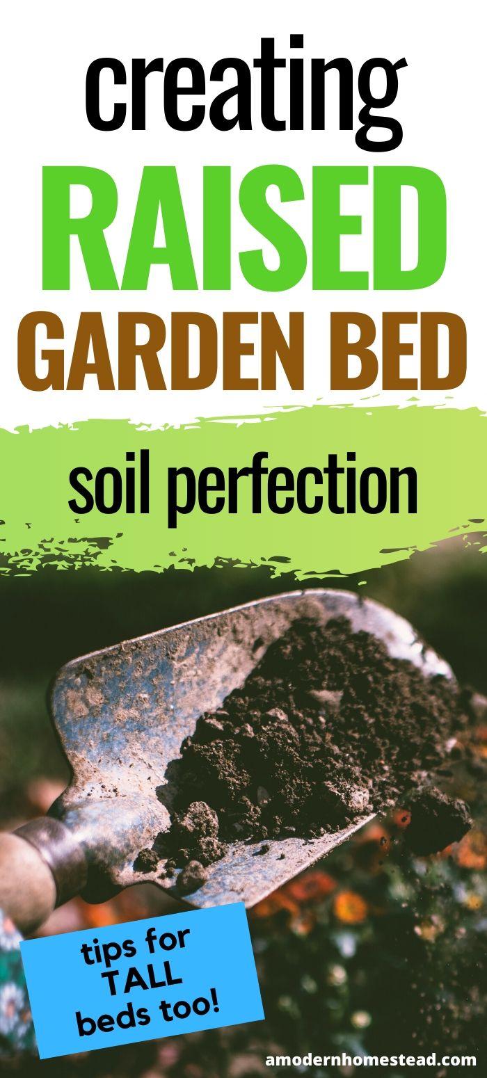 Tips for raised garden bed soil management