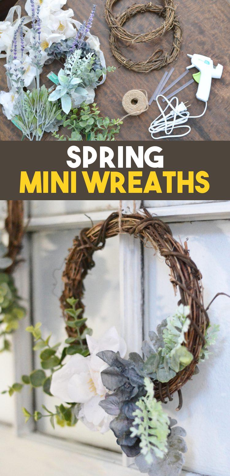Spring Mini-wreath pinnable image