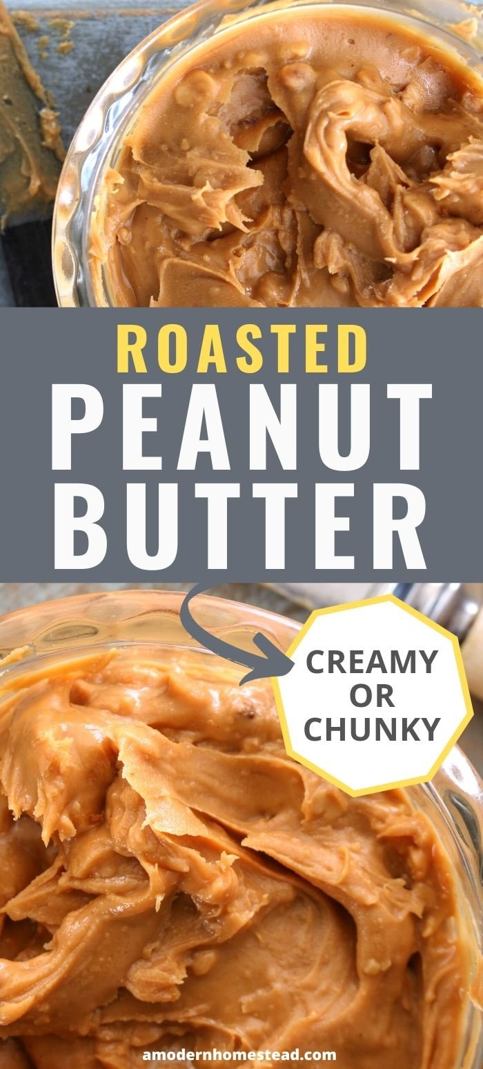 roasted peanut butter recipe creamy or chunky pin