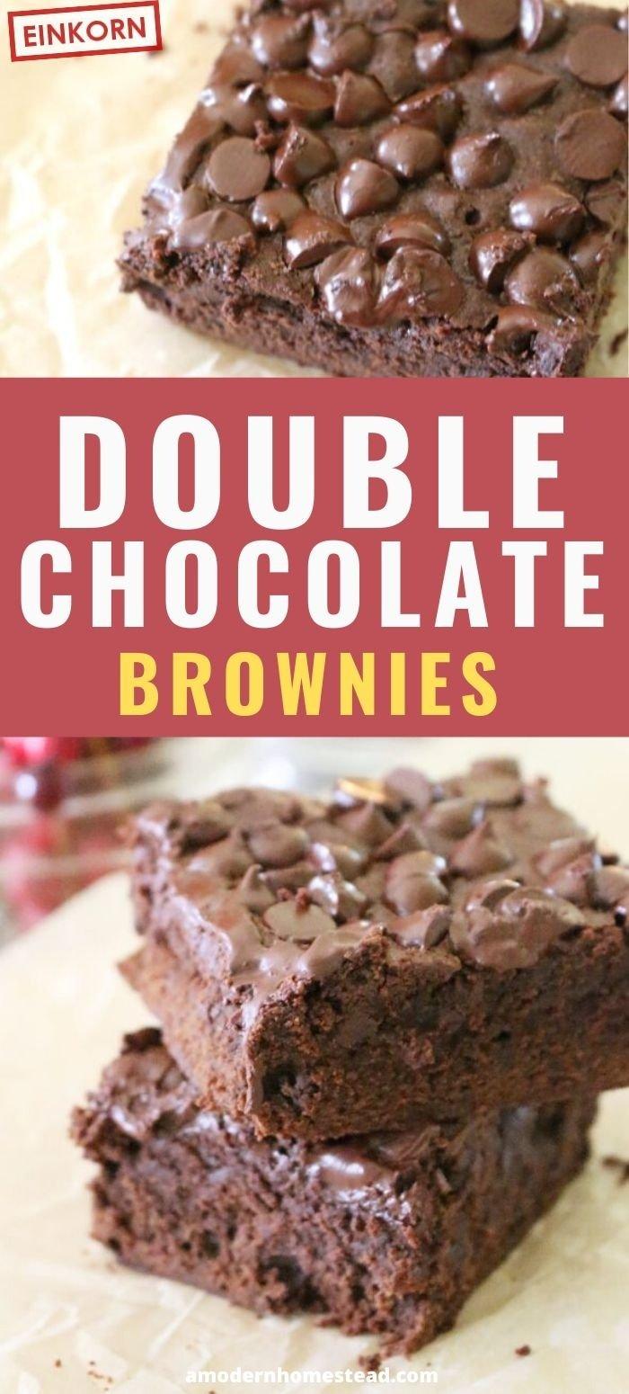 double chocolate brownies einkorn pin