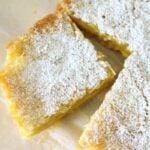 einkorn shortbread lemon bar recipe with corner cut out