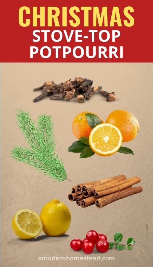 Christmas stove-top potpourri recipe