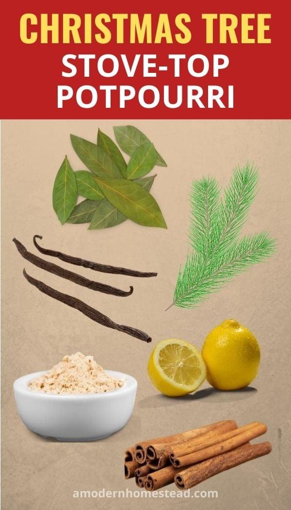 Christmas Tree stove-top potpourri recipe