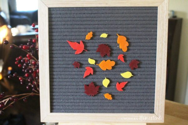 Fall Leaves for Letterboards and Felt Boards