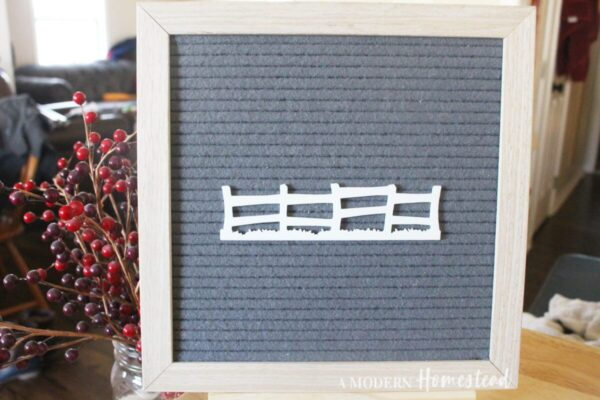 Farm Fence Letter Board Icon
