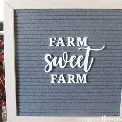 Farm Sweet Farm Letter Board Words Set