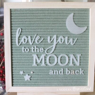 Love You to the Moon and Back (GLOW in the DARK) Letter Board Set