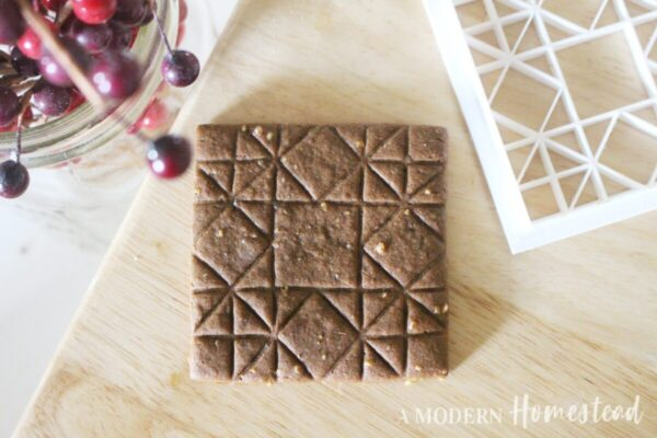 Barn Quilt Square Cookie Cutter finished cookie