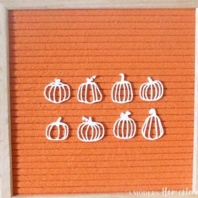 Pumpkin & Gourd Outline Icons for Letter Board