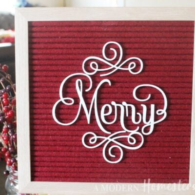 Swirly Merry Christmas Letterboard icon set