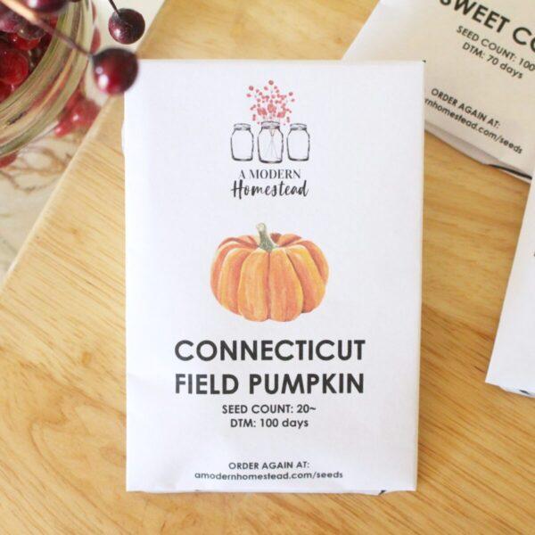 connecticut field pumpkin seed packet