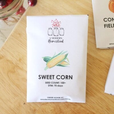 heirloom Fisher's Earliest Sweet Corn Seed packet