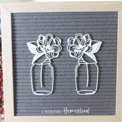 Magnolia Mason Jar Letter Board Icon