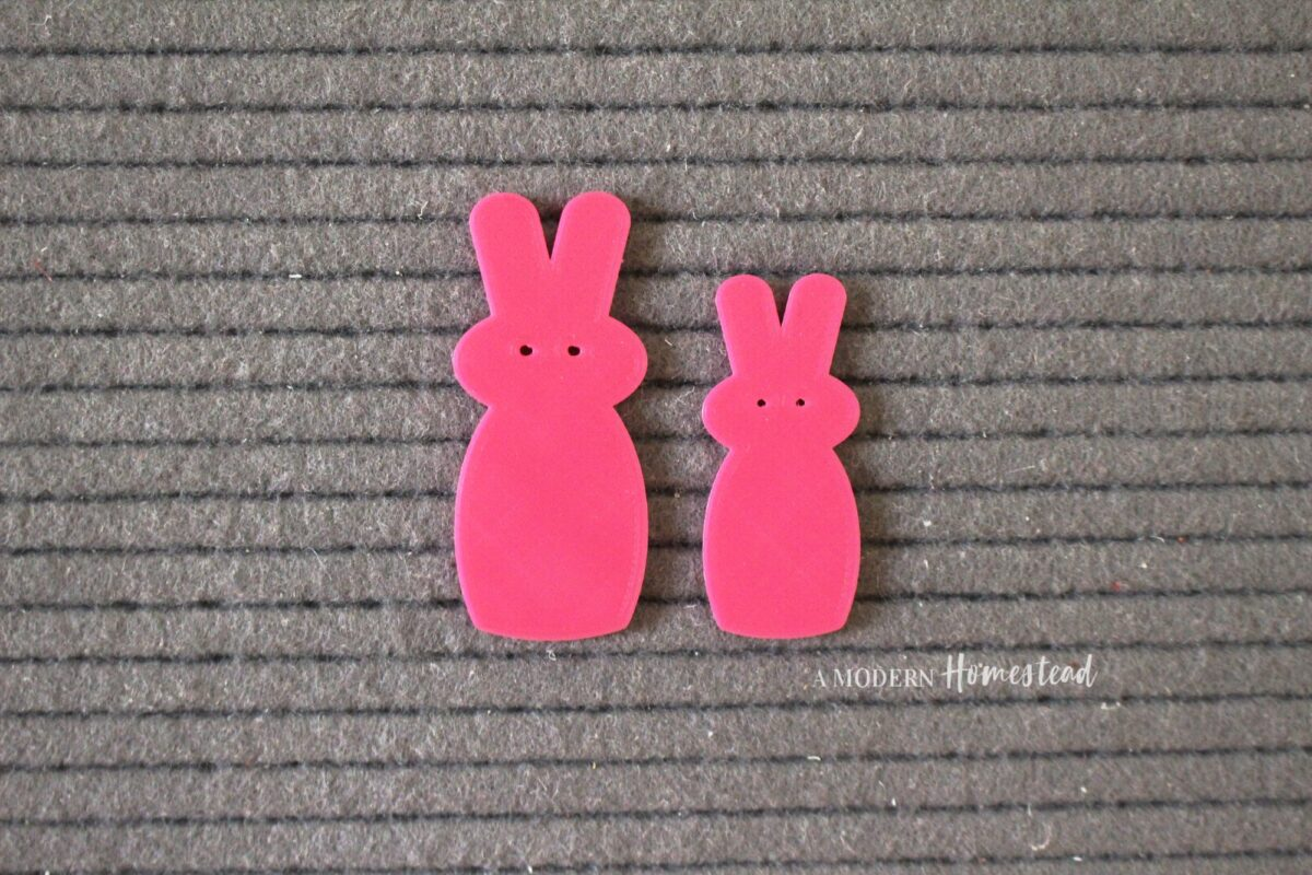 """Pink Candy Bunny """"Peeps"""" Easter Letter Board Icons"""