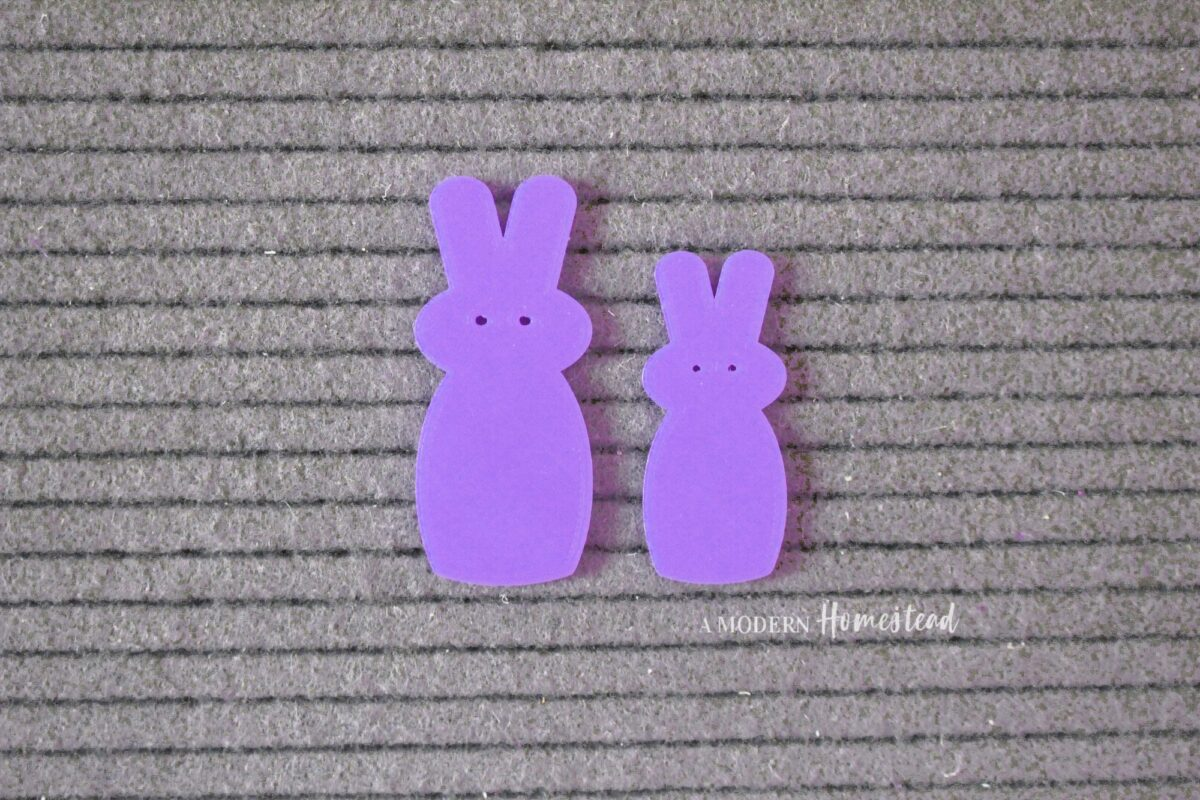 """Purple Candy Bunny """"Peeps"""" Easter Letter Board Icons"""