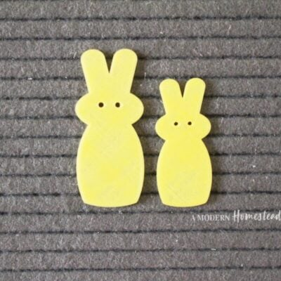 """Yellow Candy Bunny """"Peeps"""" Easter Letter Board Icons"""