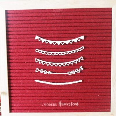 Curved Banner Letter Board Accessories Set