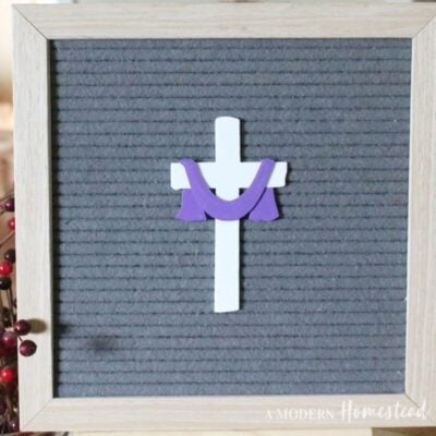 Cross with Sash Easter Letter Board Icon Set