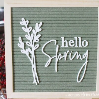 Hello spring icon and words set for letter boards