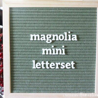 Magnolia Mini Lowercase Letterset for letter boards