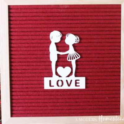 Valentine's Couple with Love Words for Letterboards