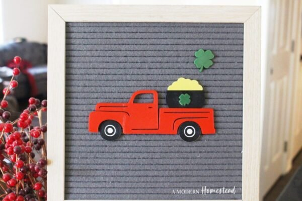 Vintage Truck with Pot of Gold for Letterboards