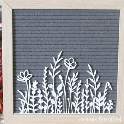 Wildflower meadow icon set for letter boards on gray letterboard
