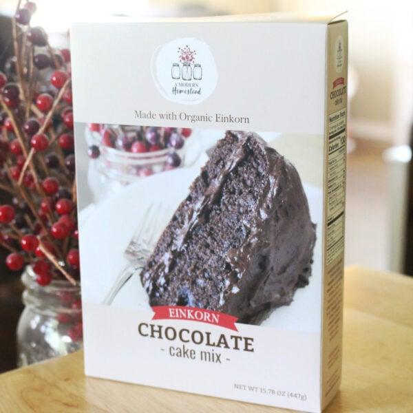 Einkorn chocolate cake mix box