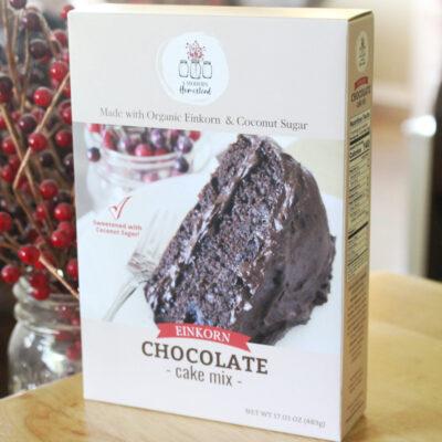 Einkorn chocolate cake with coconut sugar mix box