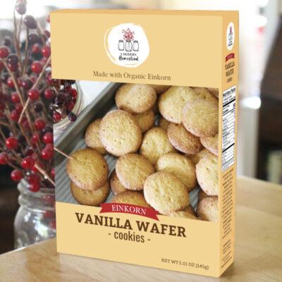 Einkorn Vanilla Wafer Cookies in a box