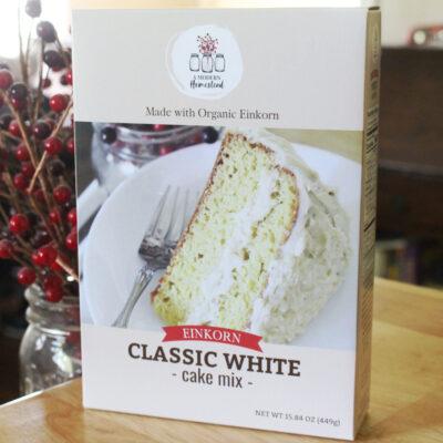einkorn white cake box mix