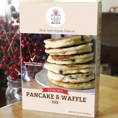Einkorn pancake and waffle box mix