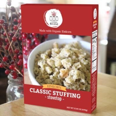 Einkorn stuffing box mix