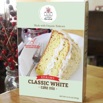 Einkorn white cake mix with No Sugar Added