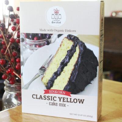 Einkorn yellow cake box mix
